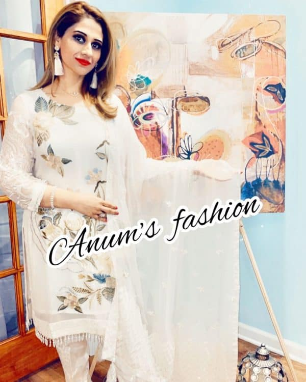Swan White by Anums Fashion